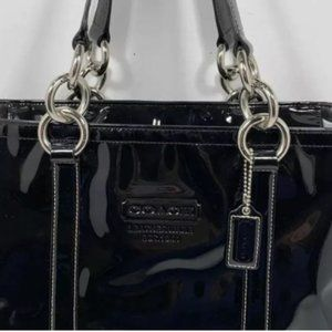 COACH Patent Leather East West Gallery Handbag